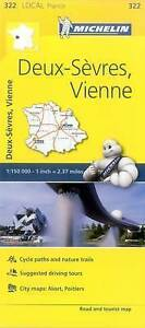 Michelin France: Deux-Sevres, Vienne Map 322 by