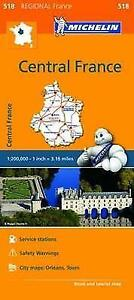 MAP CENTRAL FRANCE MICHELIN 518