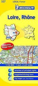 Loire, Rhone Map - Michelin 327 - New - Local France Mapping - 2014 Edition