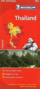 Thailand Michelin National Map 751 Motoring Tourist Map