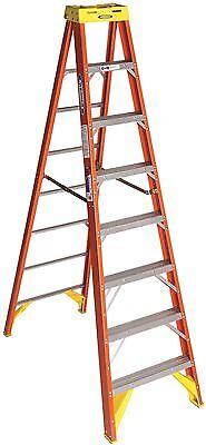 Werner Ladder 6208 Werner Type Ia Pro Grade Fiberglass Step Ladder 8