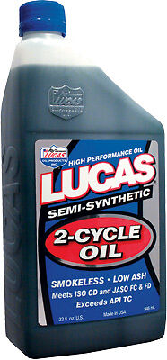 LUCAS SEMI-SYNTHETIC 2-CYCLE OIL QUART 2 STROKE OIL