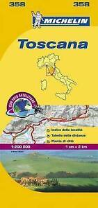 TOSCANA MAP - NEW - MICHELIN 358 - ITALY - LOCAL MAPPING - 2016