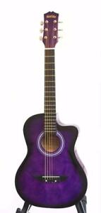 Free Shipping ! Superb Purple acoustic guitar 3/4 size 36 inch for kids iMusic573