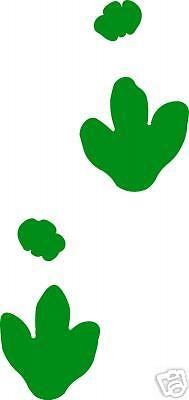 Dinosaur Track   Footprint Sticker  Ornithopods Decal