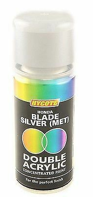 2 x HYCOTE HONDA BLADE SILVER  MET Double Acrylic Spray Paint 150ml - DHD401