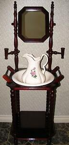 Washstand With Pitcher & Basin Vintage Replica Like New