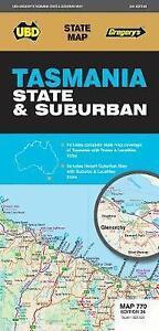UBD Gregory's Tasmania State & Suburban Map 770 26th Edition - NEW
