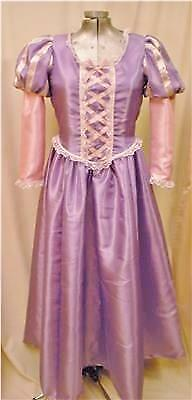 Tangled Rapunzel Princess Dress Gown Costume, Adult - Your Size Busts 32