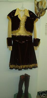 Brown and Gold Cowgirl Outfit - Adult Large!