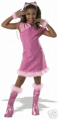 Drama Queen Alley Pussy Kitty Cat pink  child costume M - Drama Queen Costume