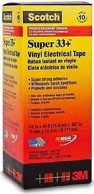 Scotch Super 33 Vinyl Electrical Tape 34 X 44 Ft Pack Of 10 Rolls