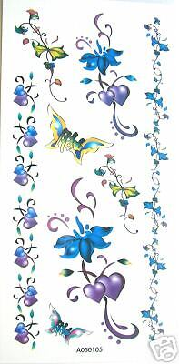Flower Butterfly Armband Temporary Tattoos #A050105 Flower Armband Tattoos