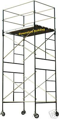 Scaffold Rolling Tower 14 High Working Deck W Railing