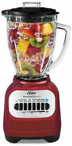 Oster Classic Series Blender with Travel Smoothie Cup - Red