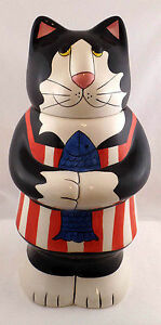 Henriksen Imports Cat Cookie Jar
