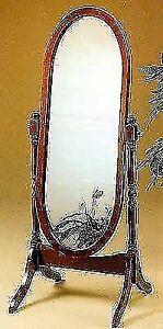 NEW STANDING MIRROR CHERRY COLOUR NEW IN BOX WE DELIVER
