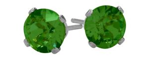 1-60-Ct-Created-6mm-Round-Emerald-Sterling-Silver-Stud-Earrings