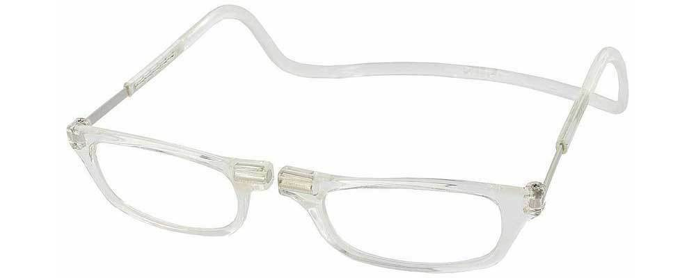 CliC Reading Glasses Original Readers CLEAR Full Rim Magneti
