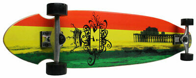 New Krown Complete KickTail Skateboard Longboard Rasta