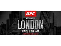 UFC London Fight Night Tickets x 2