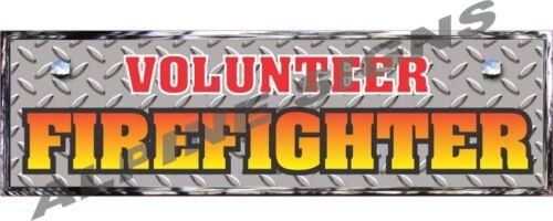 """Reflective Volunteer Firefighter D.P. Sticker Decal 10"""""""