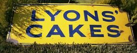 Lyons Cakes enamel sign old advertising sign