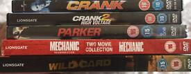 6 Jason Statham movies (DVD's)