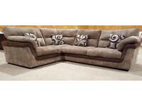Scs Corner sofa - brown. Can deliver