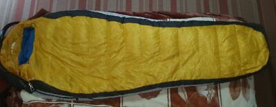 The North Face Gold Kazoo LONG mummy down sleeping bag feather great condition