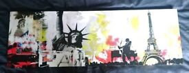 City print on canvas