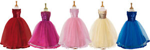 Childrens-Kids-Flower-Girls-Ballgown-Ballroom-Bridesmaid-Ball-Gown-Party-Dress