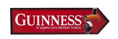 Guinness Toucan St. James Gate Road Red Metal Sign Ireland Irish Wall Art -