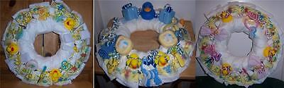 Diaper Wreaths (Baby Shower Duck Diaper Wreath, Pink, Blue, or)