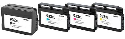 4PK For HP ink cartridges For HP 932 XL 933 XL OfficeJet Pro 6100 6600 6700 ()