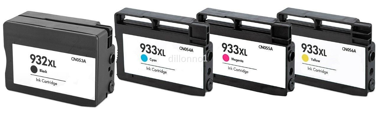 4pk for hp ink cartridges for hp 932 xl 933 xl officejet pro 6100 6600 6700. Black Bedroom Furniture Sets. Home Design Ideas
