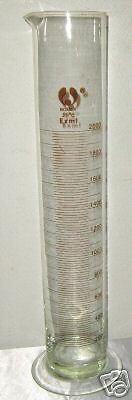 Glass Cylinder Graduated 2000 Ml 2l Lab Measuring Cup Scientific School New
