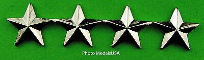 4 Star General Rank Silver   Collar  Shirt  Hat  Ball Cap Insignia