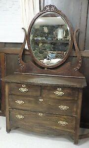 1906 Antique dresser and mirror