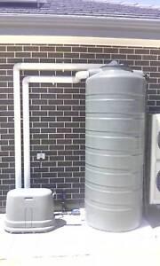 Rainwater Tanks - Pumps - Irrigation - Pipes - Sprinklers.