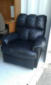 Black Leather Recliner For Sale