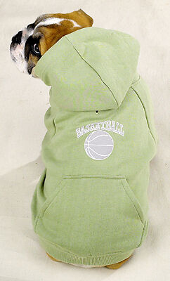 XSM  Dog Sports hoodie sweatshirt Basketball emblem Chihuahua Yorkie Poodle NEW