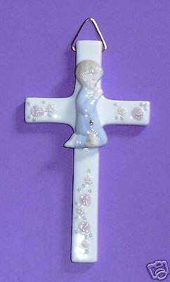 First Holy Communion Porcelain - NEW~PORCELAIN CROSS~FIRST HOLY COMMUNION~BOY~Religious/Holy/Keepsake/Son