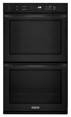 "KitchenAid KEBK206BBL 30"" Black Electric Wall Oven Thermal NIB #4072"