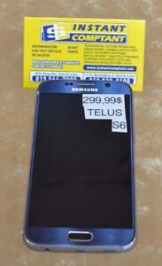 Téléphone cellulaire samsung s6 avec Telus