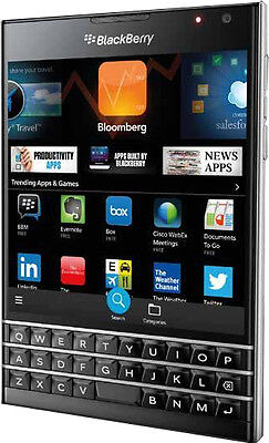 Used, New Imported BlackBerry Passport 32GB 3GB 13MP 2MP Black Eng with Arabic Keypad for sale  CHENNAI