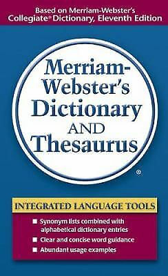Merriam Websters Dictionary And Thesaurus By Merriam Webster Inc