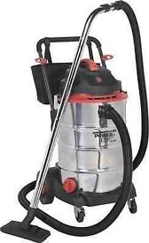 Vacuum Cleaner Wet & Dry 60ltr Stainless Drum 1600W/230V SEALEY PC460 WET & DRY.