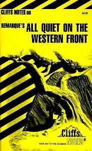 a review of remarques all quiet in the western front The paperback of the cliffsnotes on remarque's all quiet on the western front by susan van kirk, g tubach | at barnes & noble free shipping on $25.