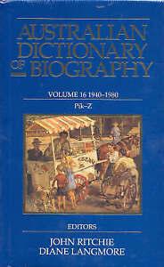 Australian Dictionary of Biography: v.16: 1940-1980: Pik-Z by Melbourne Uni - B5